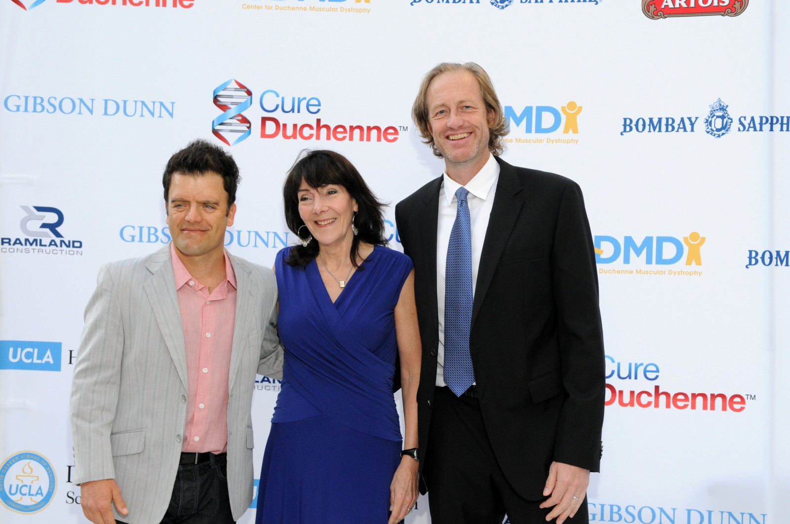 CureDuchenne Founders Debra and Paul Miller with actor Kevin Weisman