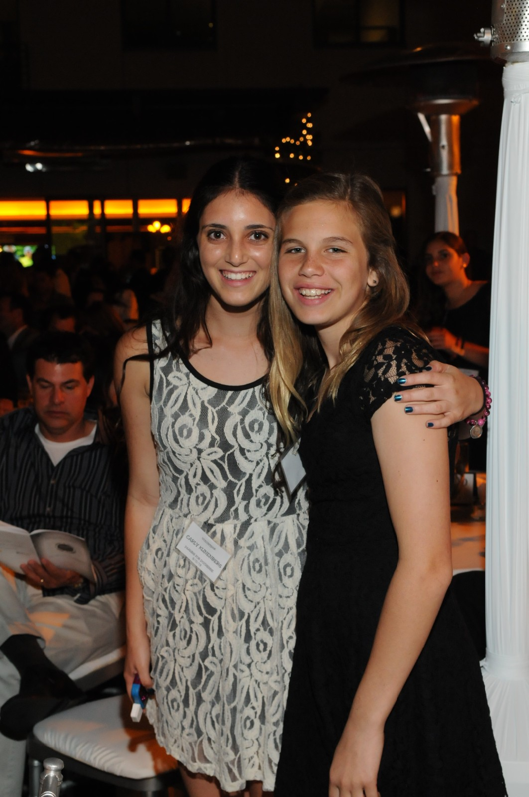 Youth Volunteers Nathalie Martin and Carly Klinenberg